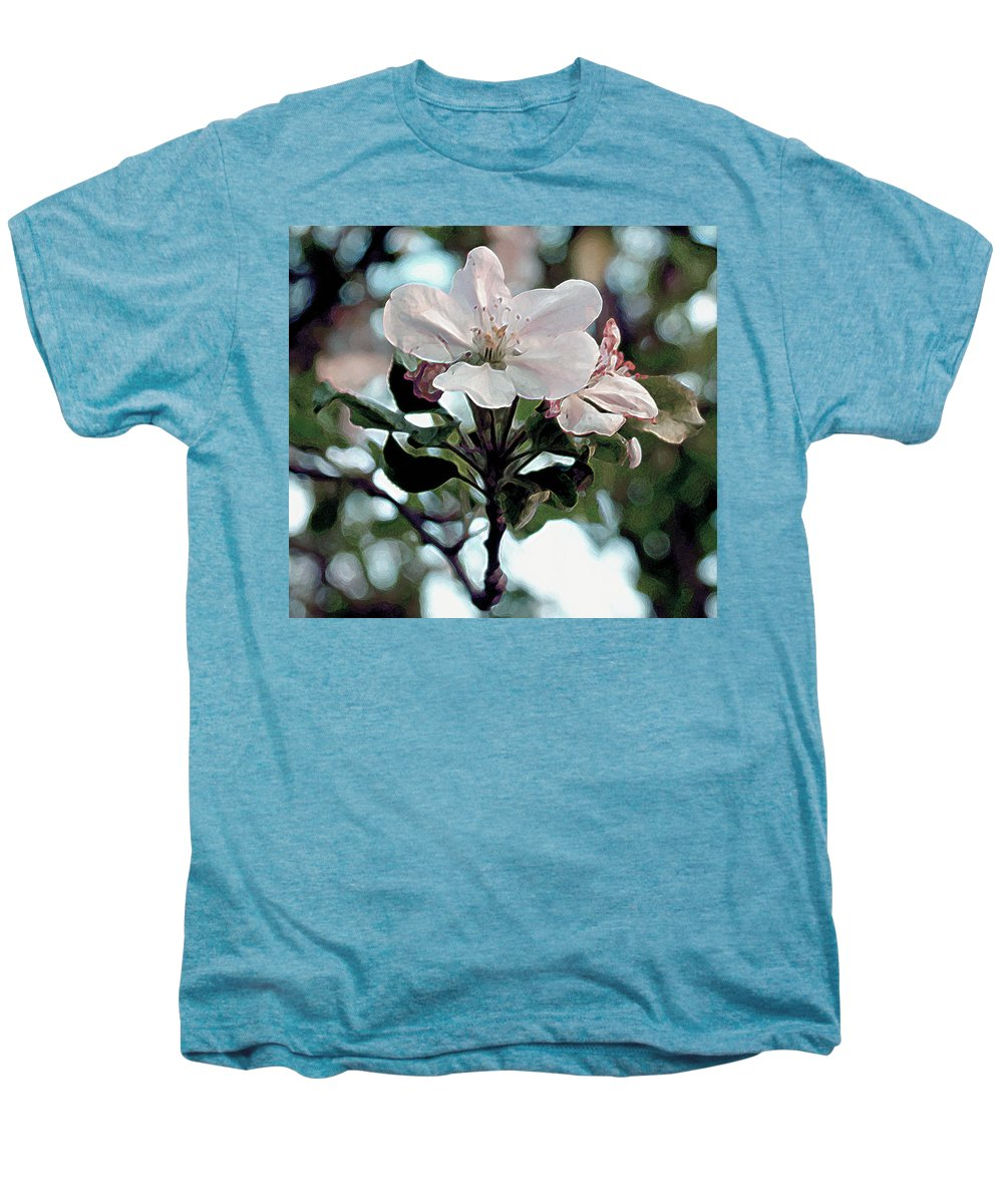 Flowers Men's Premium T-Shirt featuring the painting Apple Blossom Time by RC deWinter