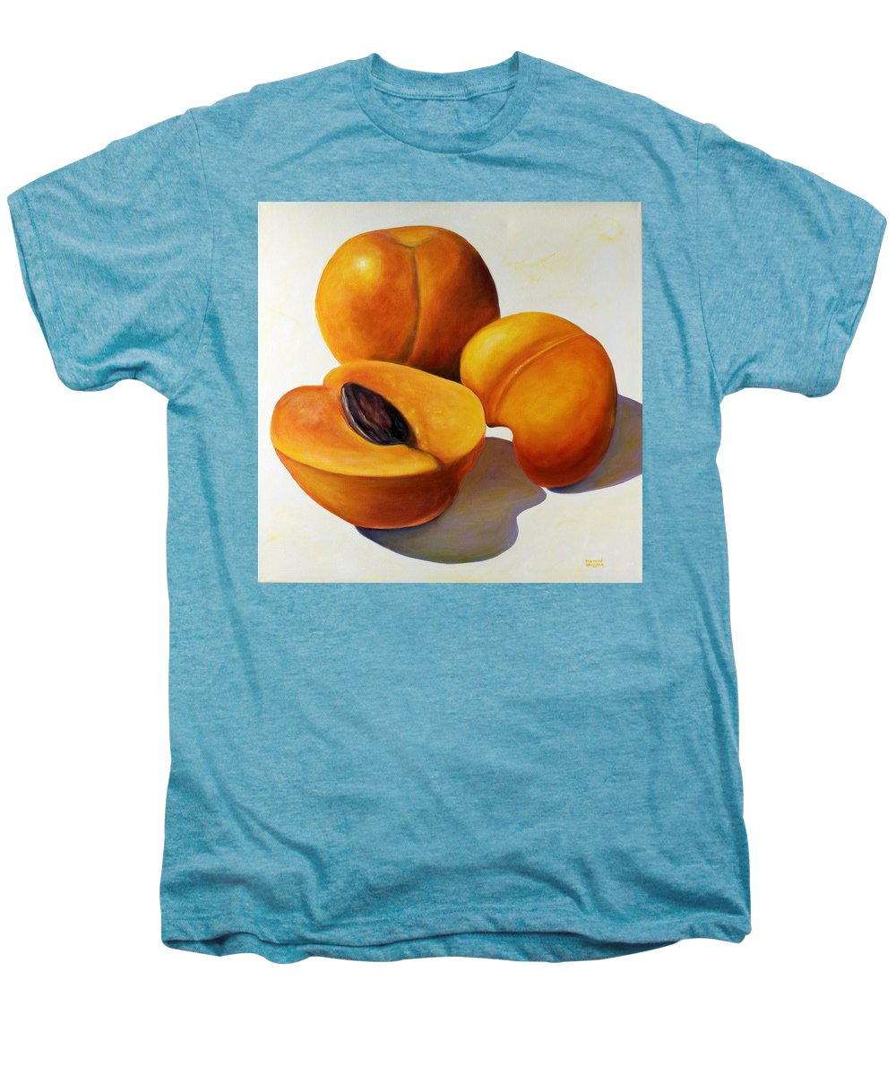 Apricots Men's Premium T-Shirt featuring the painting Apricots by Shannon Grissom