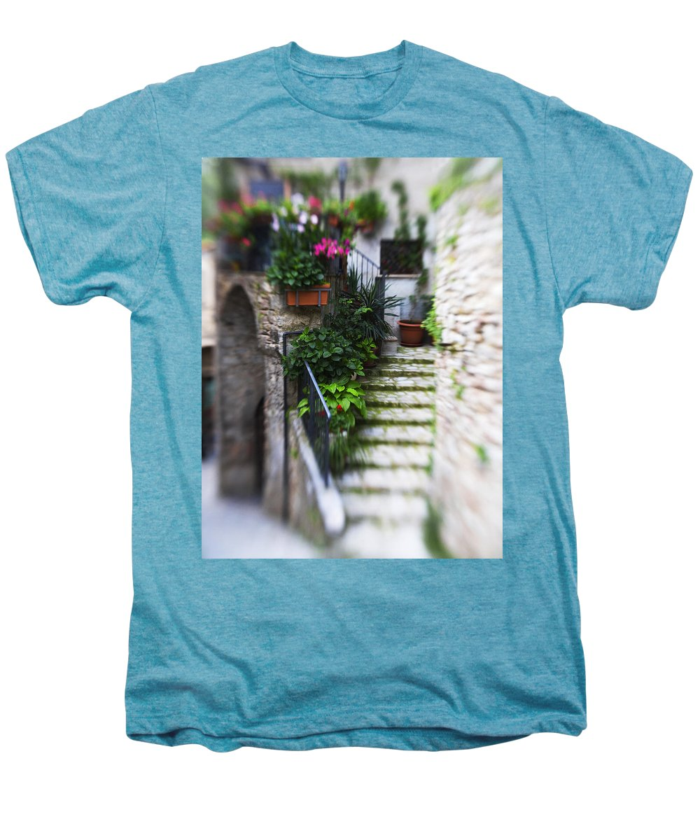 Italy Men's Premium T-Shirt featuring the photograph Archway And Stairs by Marilyn Hunt