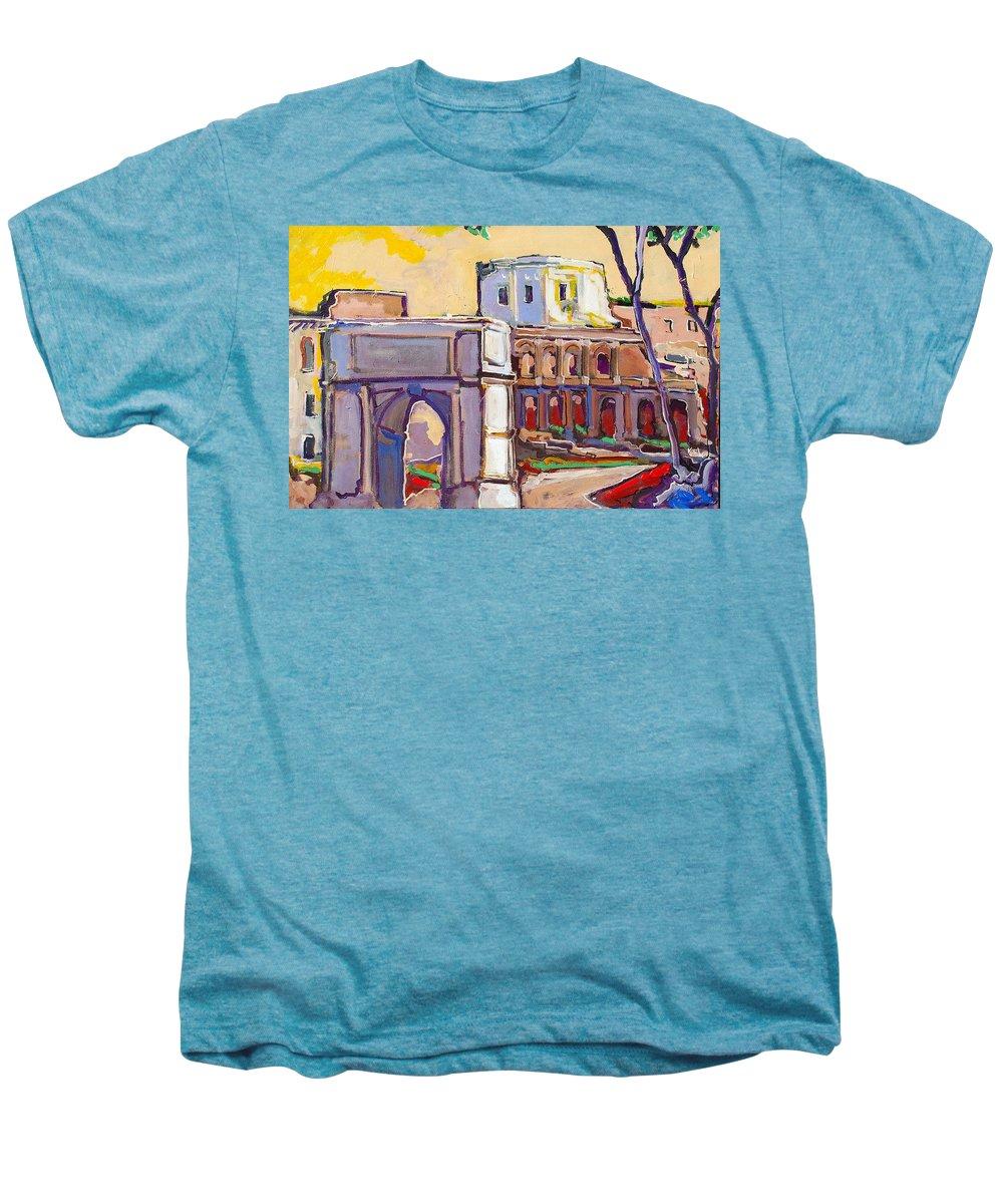 Rome Men's Premium T-Shirt featuring the painting Arco Di Romano by Kurt Hausmann