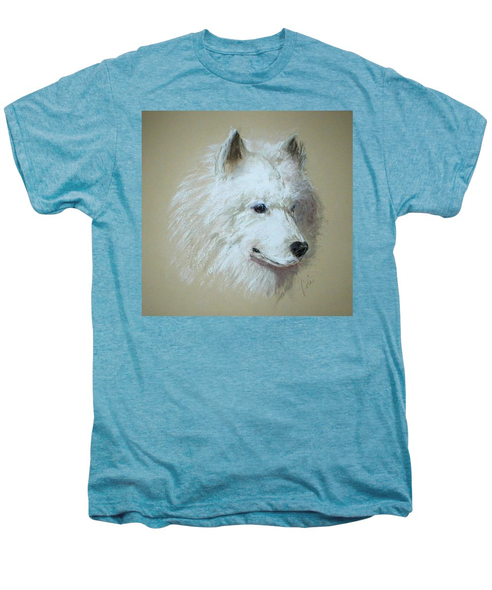 Dog Men's Premium T-Shirt featuring the drawing Arctic Serenity by Cori Solomon