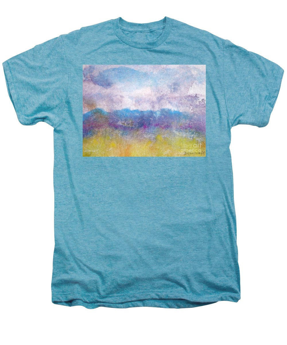 Abstract Men's Premium T-Shirt featuring the painting Arizona Impressions by Jan Bennicoff