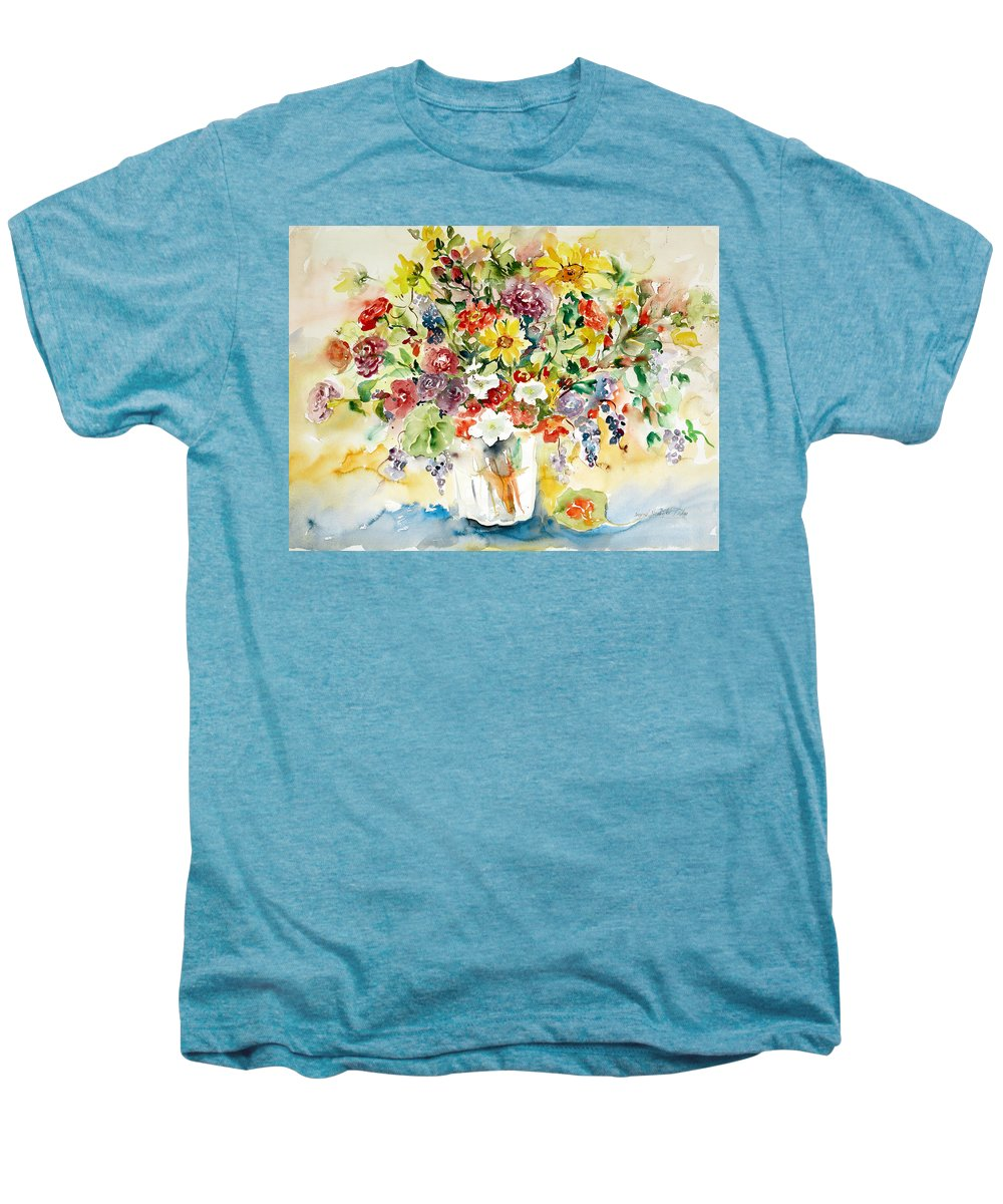 Watercolor Men's Premium T-Shirt featuring the painting Arrangement IIi by Alexandra Maria Ethlyn Cheshire