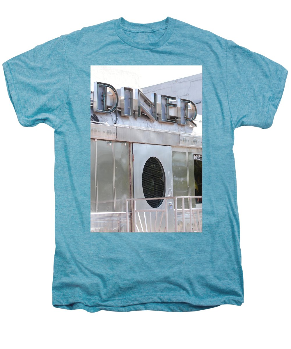 Architecture Men's Premium T-Shirt featuring the photograph Art Deco Diner by Rob Hans