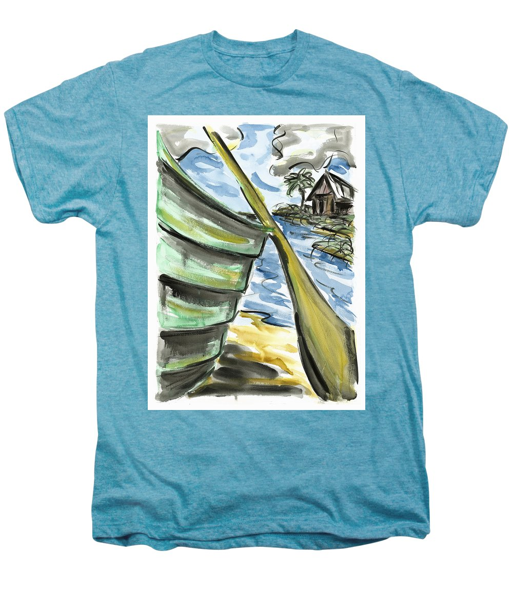 Seascape Men's Premium T-Shirt featuring the painting Ashore by Robert Joyner
