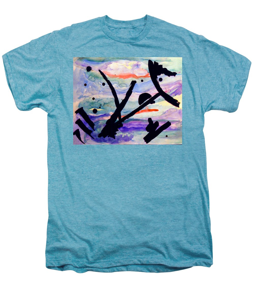 Abstract Men's Premium T-Shirt featuring the painting Asian Impression by Steve Karol
