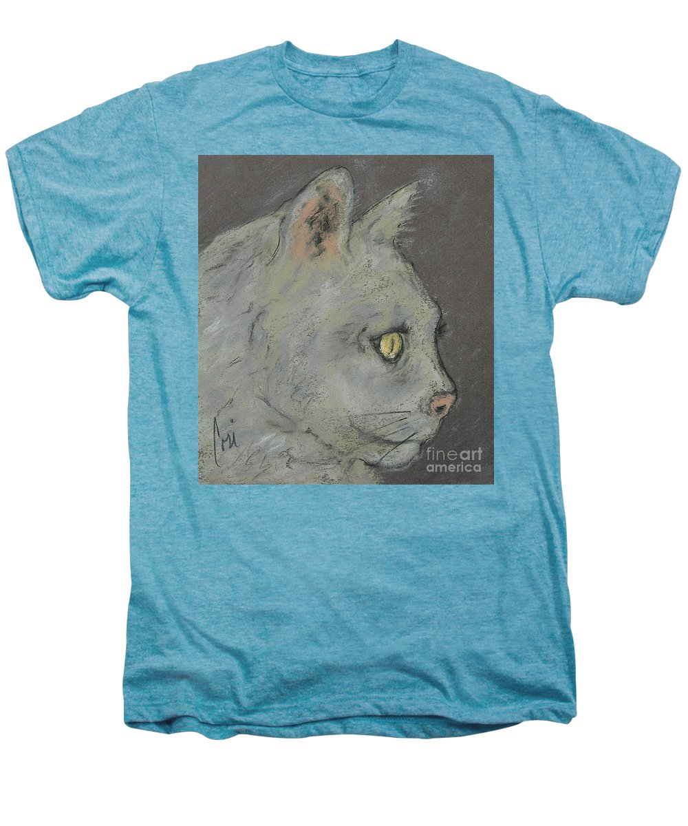 Pastels Men's Premium T-Shirt featuring the drawing At Peace by Cori Solomon