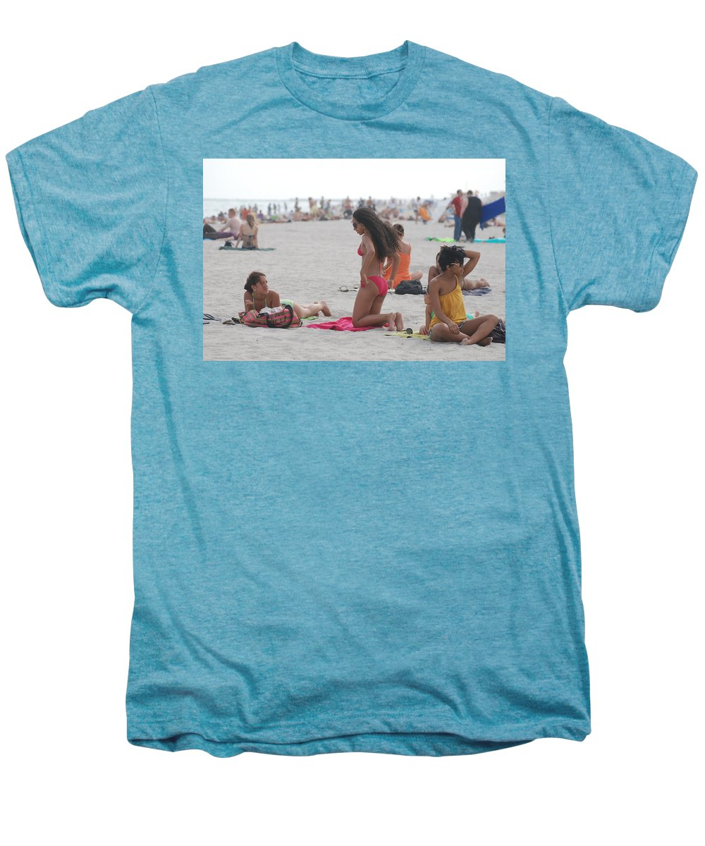 Girls Men's Premium T-Shirt featuring the photograph At The Beach by Rob Hans
