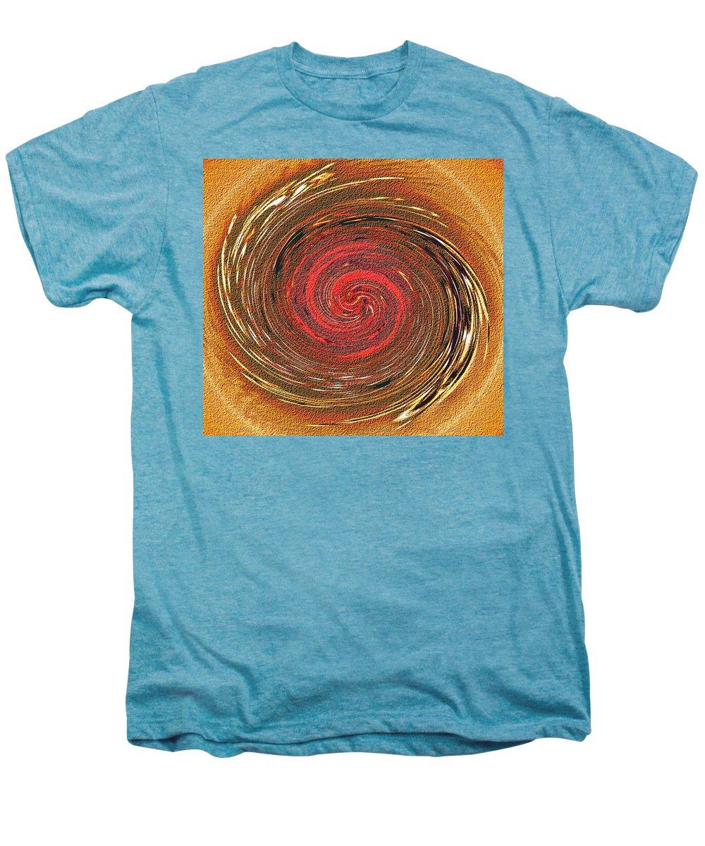 Abstract Men's Premium T-Shirt featuring the digital art Atlantean Fire by Don Quackenbush