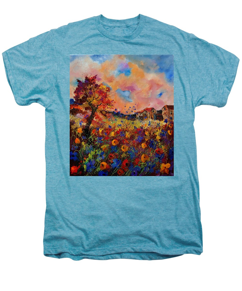 Poppies Men's Premium T-Shirt featuring the painting Autumn Colors by Pol Ledent