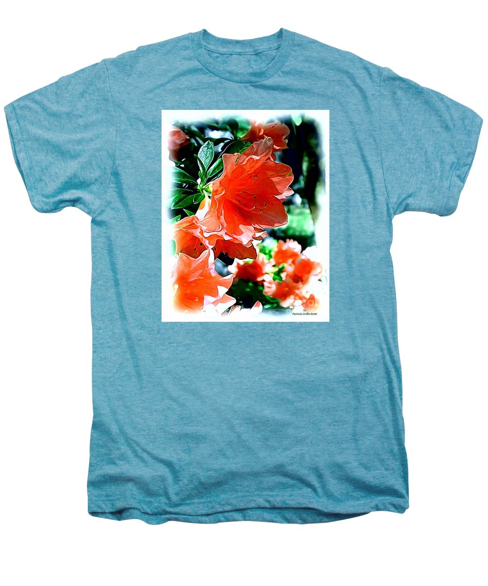 Fine Art Men's Premium T-Shirt featuring the painting Azaleas In The Spring by Patricia Griffin Brett