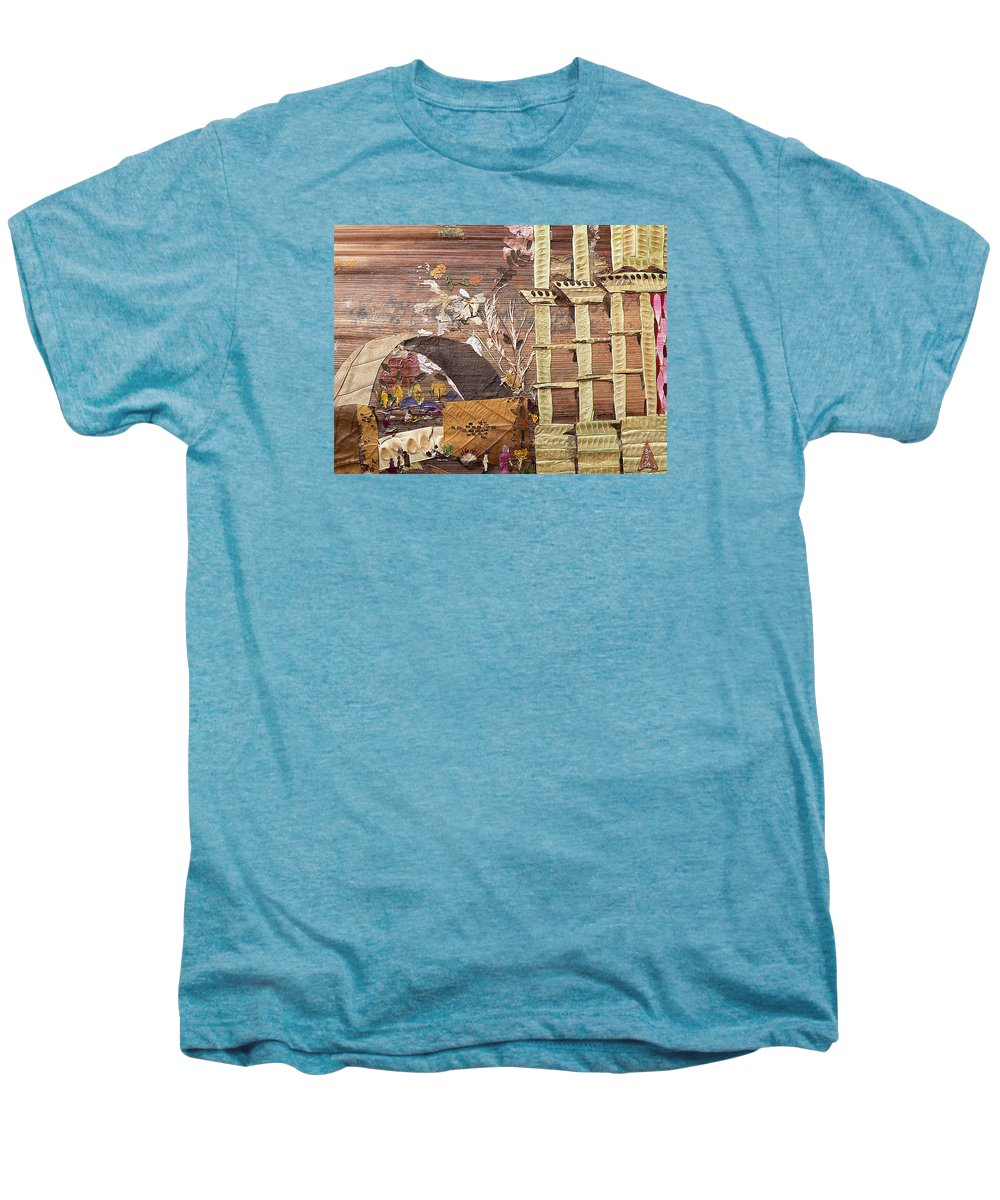 Back Door Entry For Relief To Disabled Men's Premium T-Shirt featuring the mixed media Back Entry by Basant soni