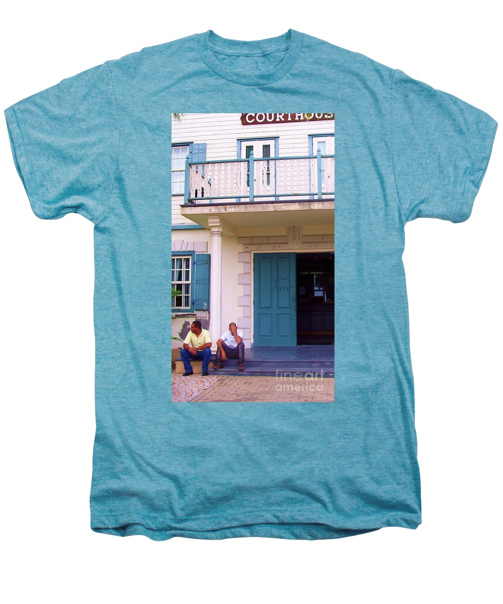 Building Men's Premium T-Shirt featuring the photograph Bad Day In Court by Debbi Granruth