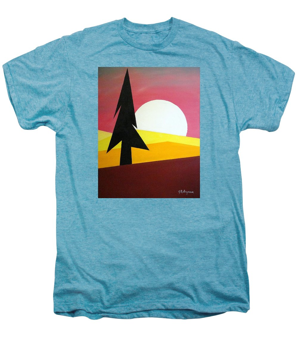 Phases Of The Moon Men's Premium T-Shirt featuring the painting Bad Moon Rising by J R Seymour