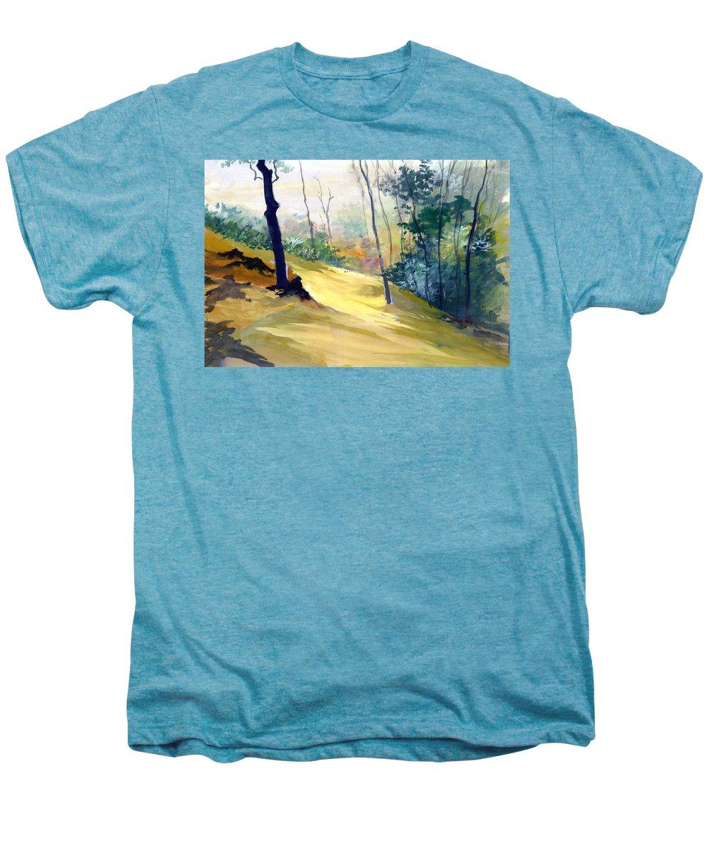 Landscape Men's Premium T-Shirt featuring the painting Balance by Anil Nene