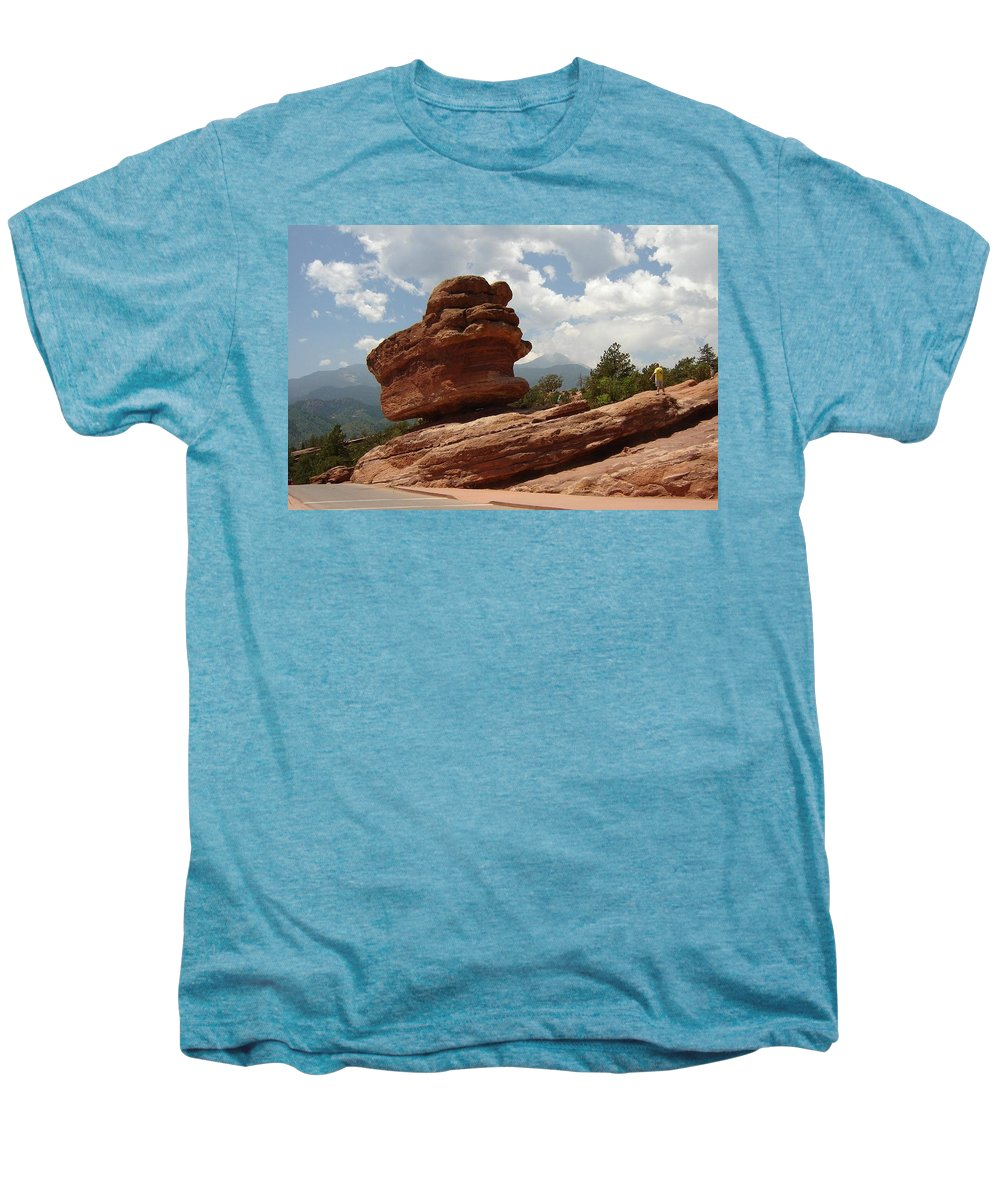 Colorado Men's Premium T-Shirt featuring the photograph Balance Rock by Anita Burgermeister