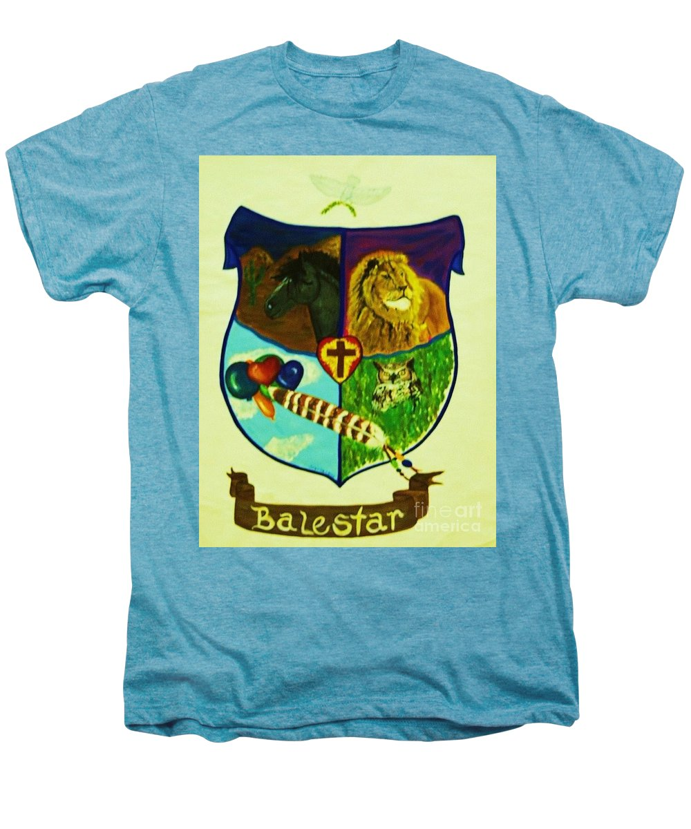 Lion Men's Premium T-Shirt featuring the painting Balestar Crest by Jamey Balester