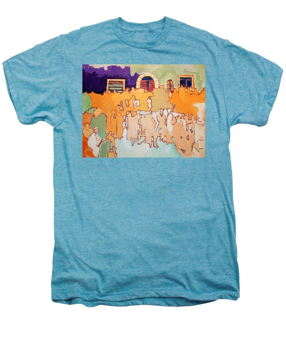 Band Men's Premium T-Shirt featuring the painting Banda Di Villaggio by Kurt Hausmann