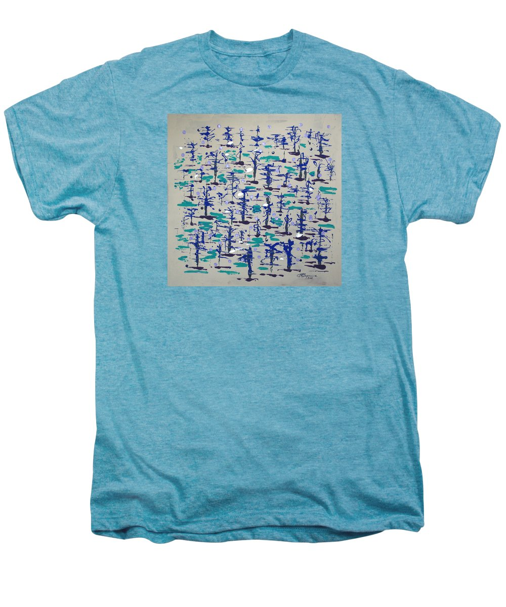 Abstract Men's Premium T-Shirt featuring the painting Bare Trees by J R Seymour