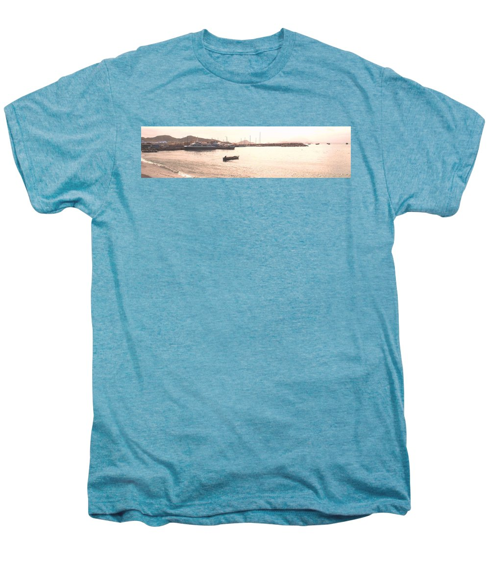 St Kitts Men's Premium T-Shirt featuring the photograph Basseterre Harbour by Ian MacDonald