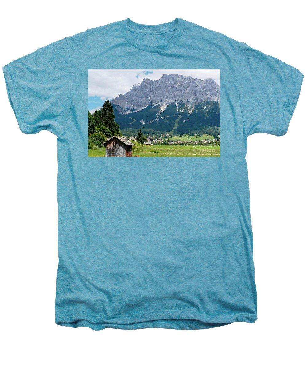 Landscape Men's Premium T-Shirt featuring the photograph Bavarian Alps Landscape by Carol Groenen