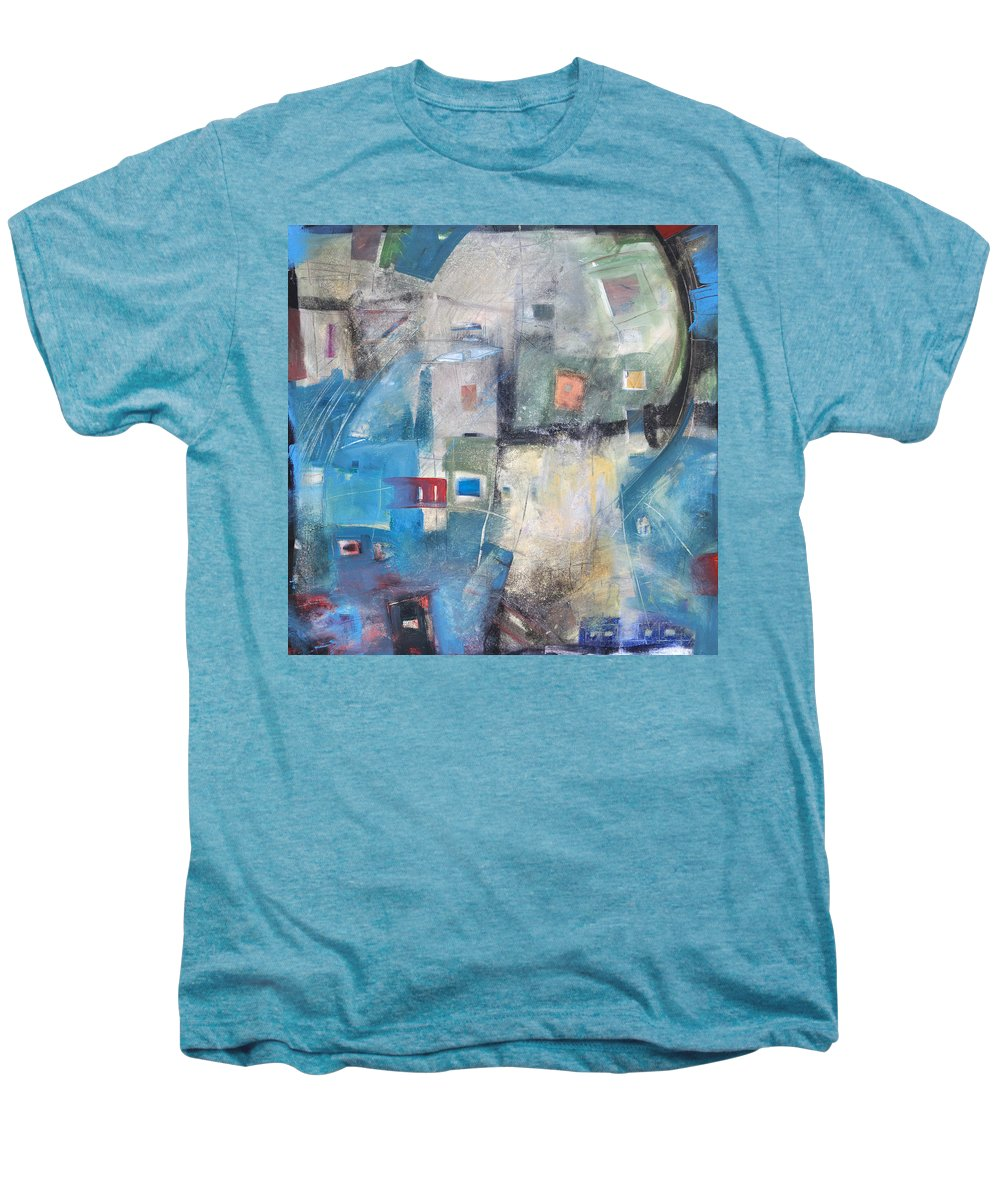 Abstract Men's Premium T-Shirt featuring the painting Bayer Works Wonders by Tim Nyberg