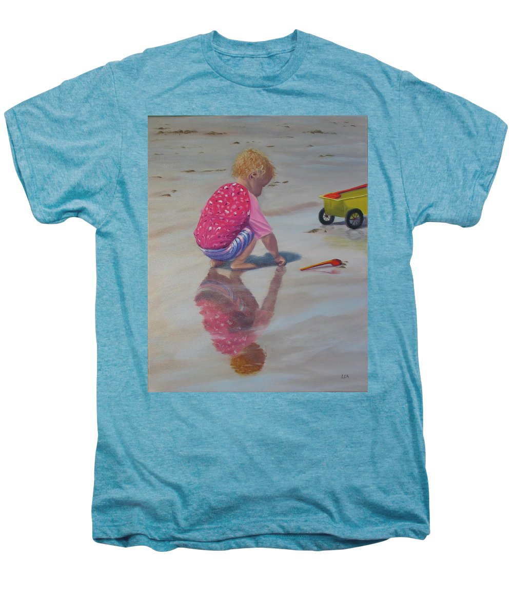Baby Men's Premium T-Shirt featuring the painting Beach Baby by Lea Novak
