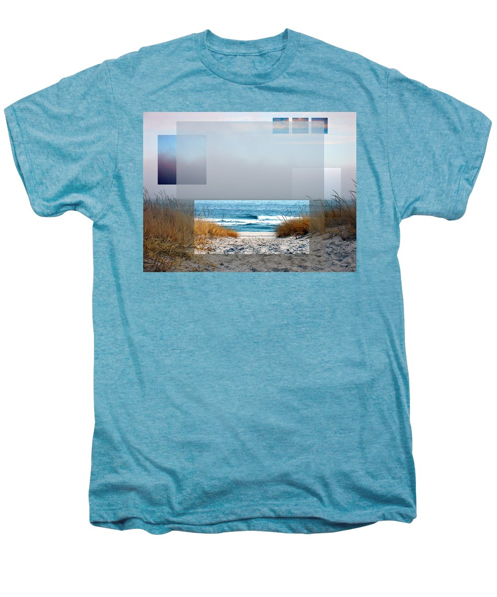 Beach Men's Premium T-Shirt featuring the photograph Beach Collage by Steve Karol