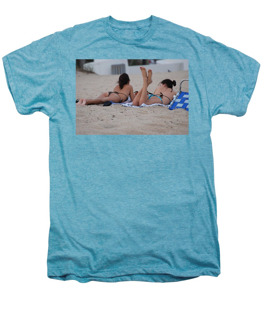 Girls Men's Premium T-Shirt featuring the photograph Beach Combers by Rob Hans
