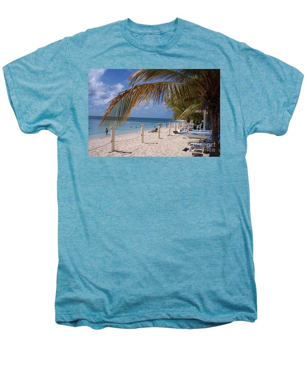 Beach Men's Premium T-Shirt featuring the photograph Beach Grand Turk by Debbi Granruth