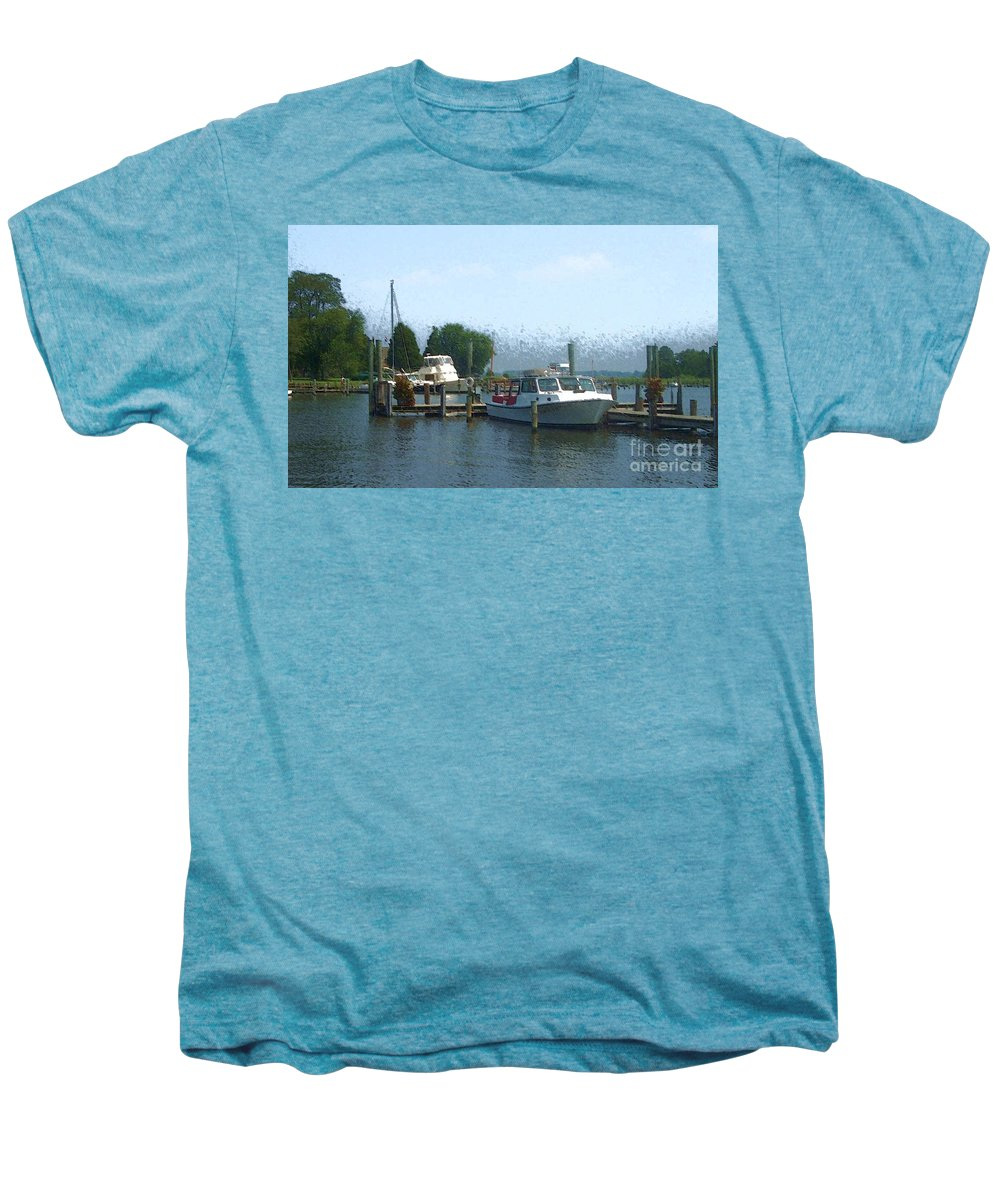 Boat Men's Premium T-Shirt featuring the photograph Beached Buoys by Debbi Granruth