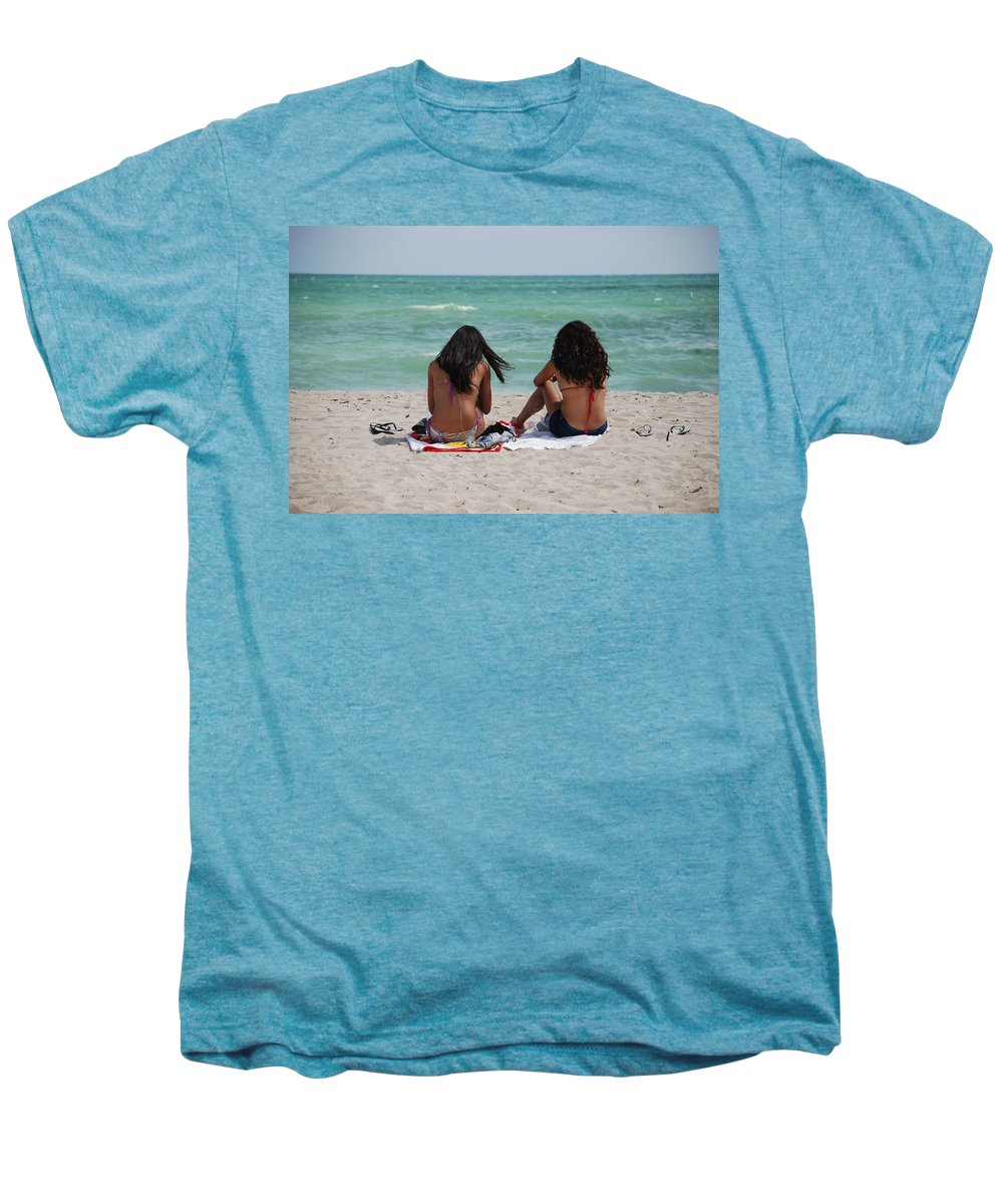 Women Men's Premium T-Shirt featuring the photograph Beauties On The Beach by Rob Hans
