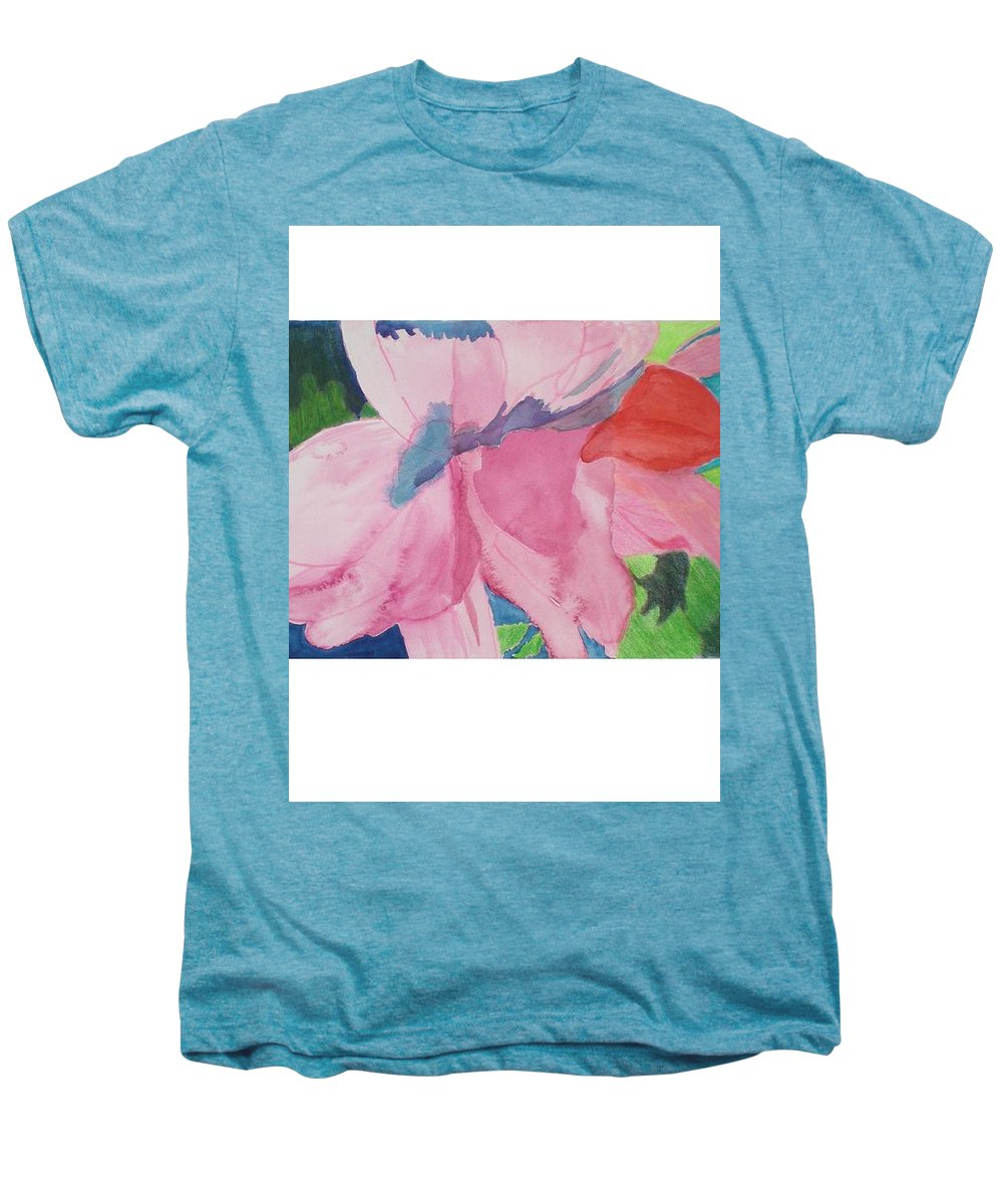 Flower Men's Premium T-Shirt featuring the painting Beautiful Azalea by Hal Newhouser