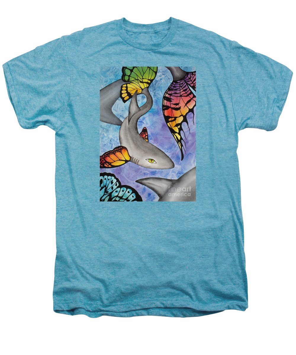 Surreal Men's Premium T-Shirt featuring the painting Beauty In The Beasts by Lucy Arnold