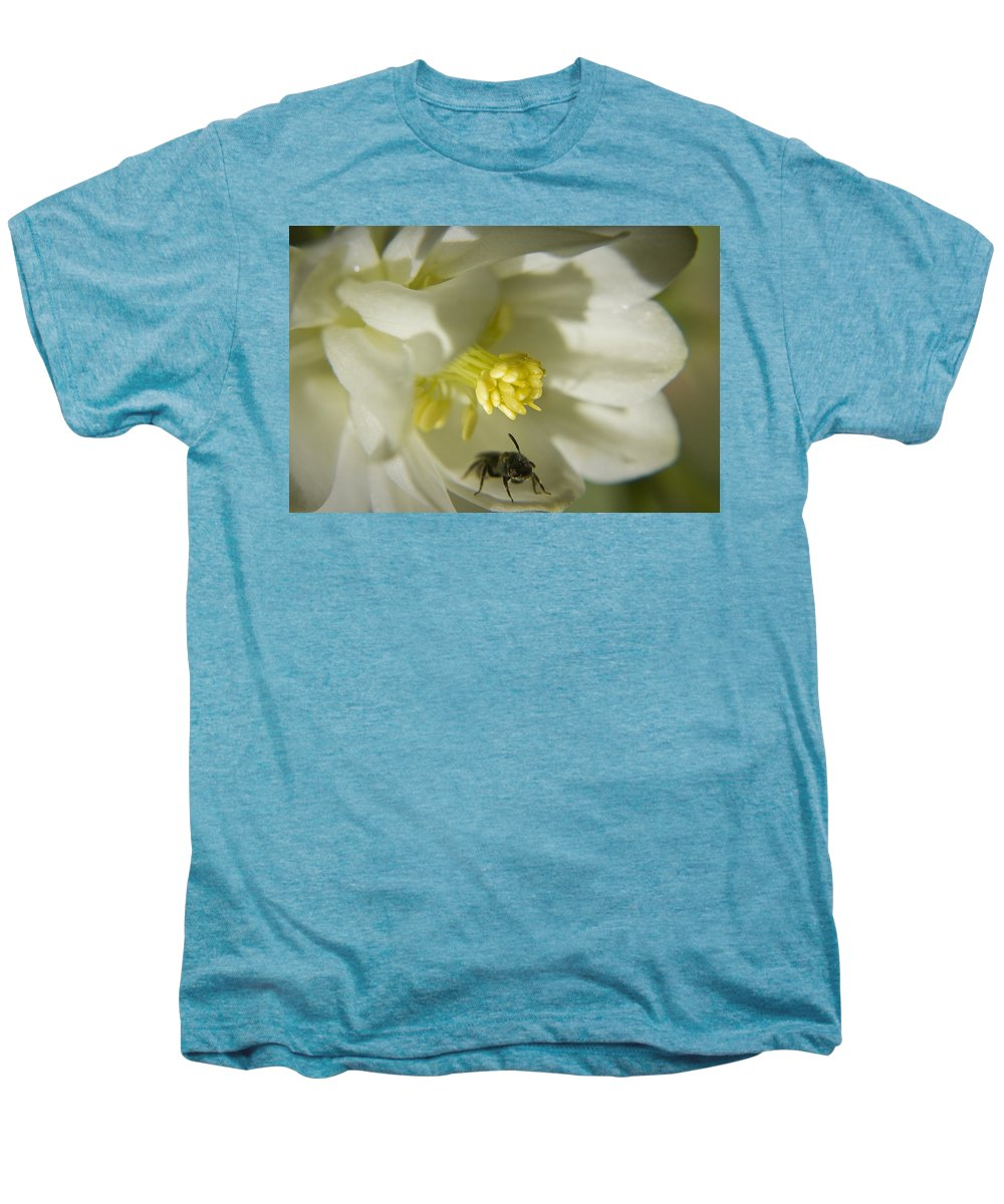Columbine Men's Premium T-Shirt featuring the photograph Bee Mine by Teresa Mucha