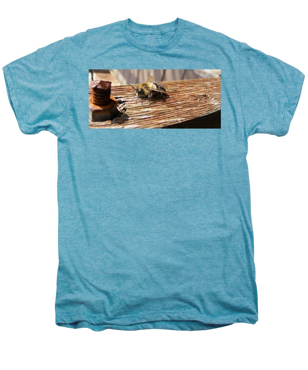 Bee Men's Premium T-Shirt featuring the photograph Bee-u-tiful by Ed Smith