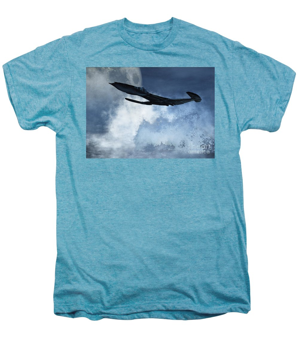 Flight Men's Premium T-Shirt featuring the digital art Below Radar by Richard Rizzo