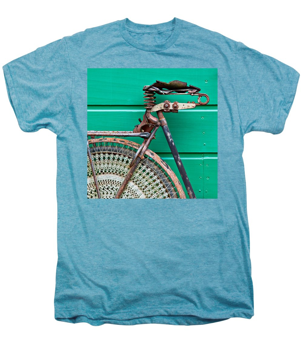 Bike Men's Premium T-Shirt featuring the photograph Better Days by Dave Bowman