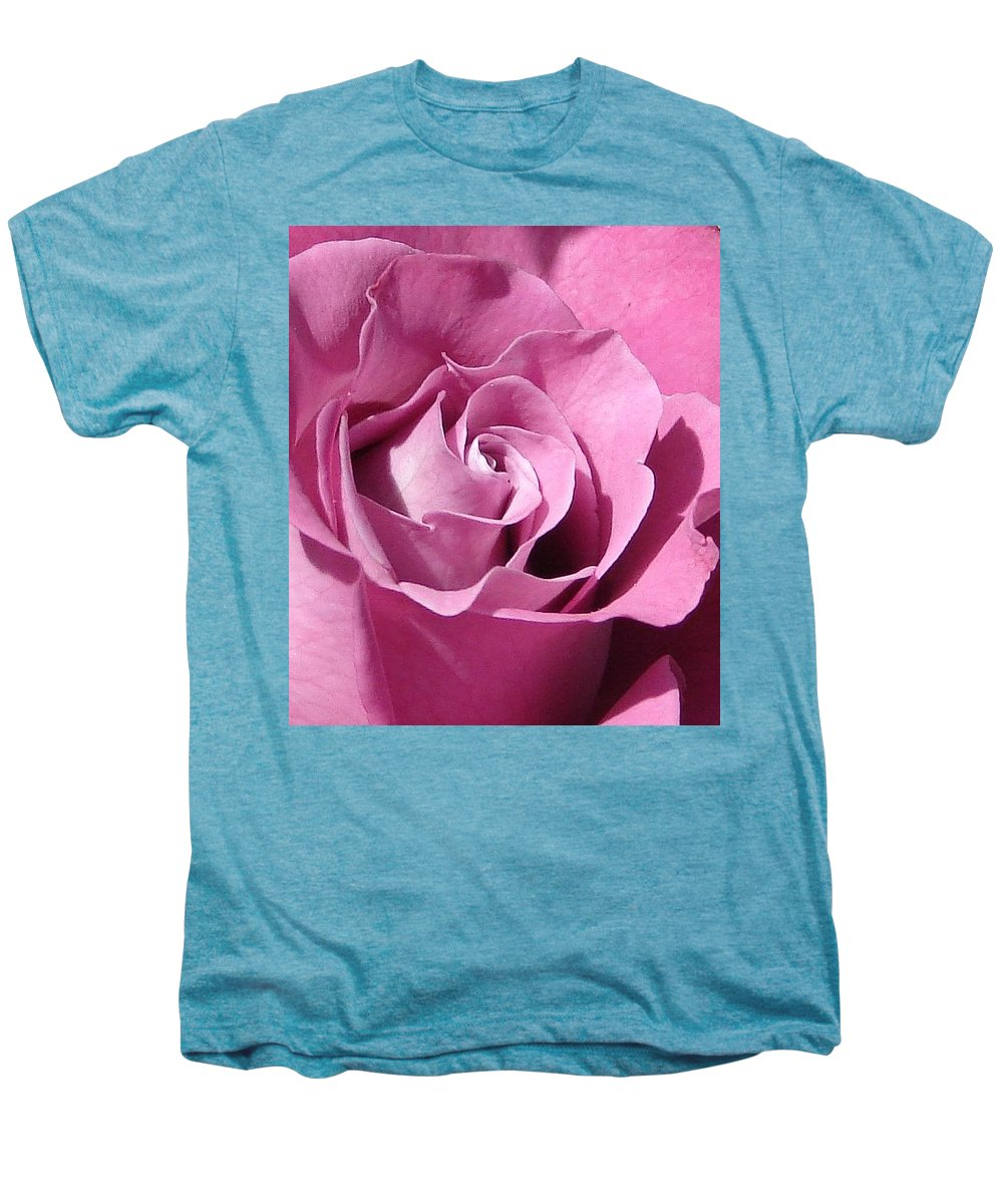Rose Pink Men's Premium T-Shirt featuring the photograph Big Pink by Luciana Seymour