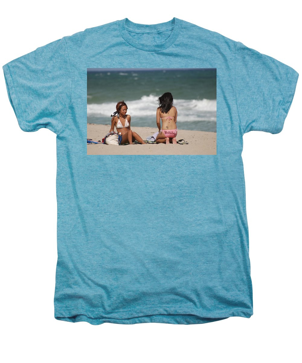 Sea Scape Men's Premium T-Shirt featuring the photograph Billabong Girls by Rob Hans