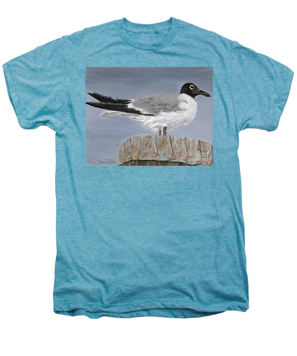 Seagull Men's Premium T-Shirt featuring the painting Bimini Gull by Danielle Perry