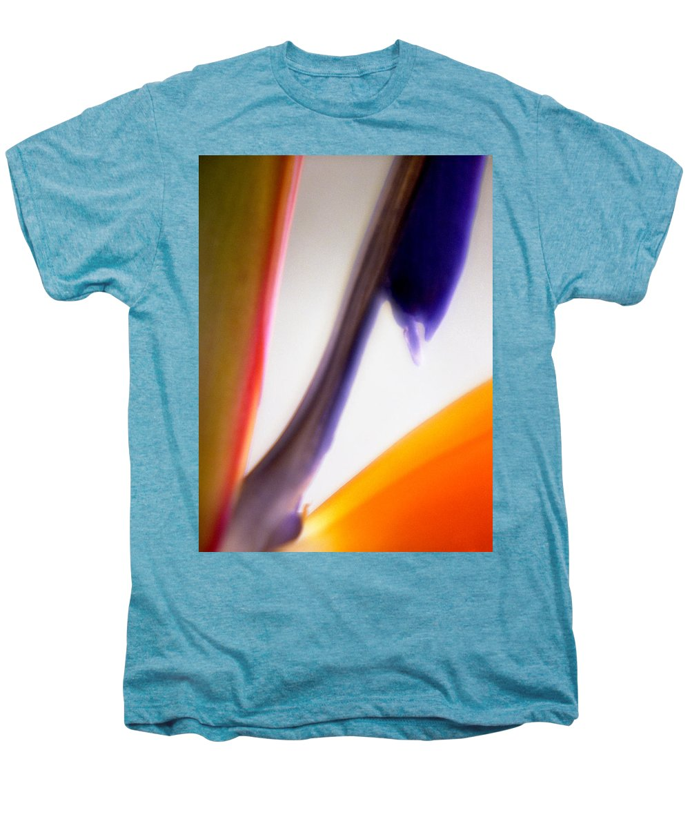 Macro Men's Premium T-Shirt featuring the photograph Bird Of Paradise by Lee Santa