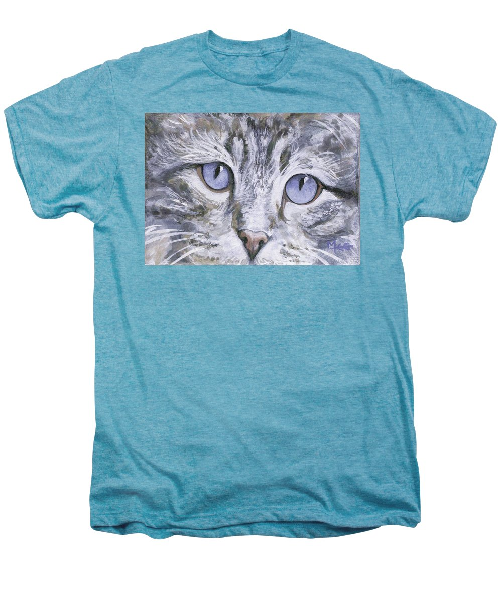 Charity Men's Premium T-Shirt featuring the painting Bisous by Mary-Lee Sanders
