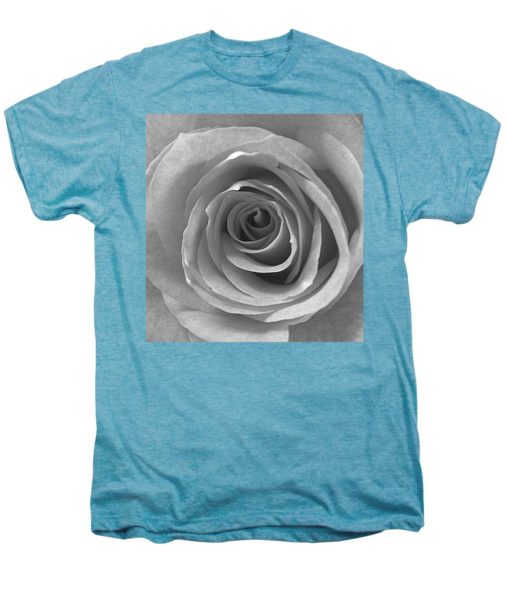 Rose Pedals Men's Premium T-Shirt featuring the photograph Black And White by Luciana Seymour
