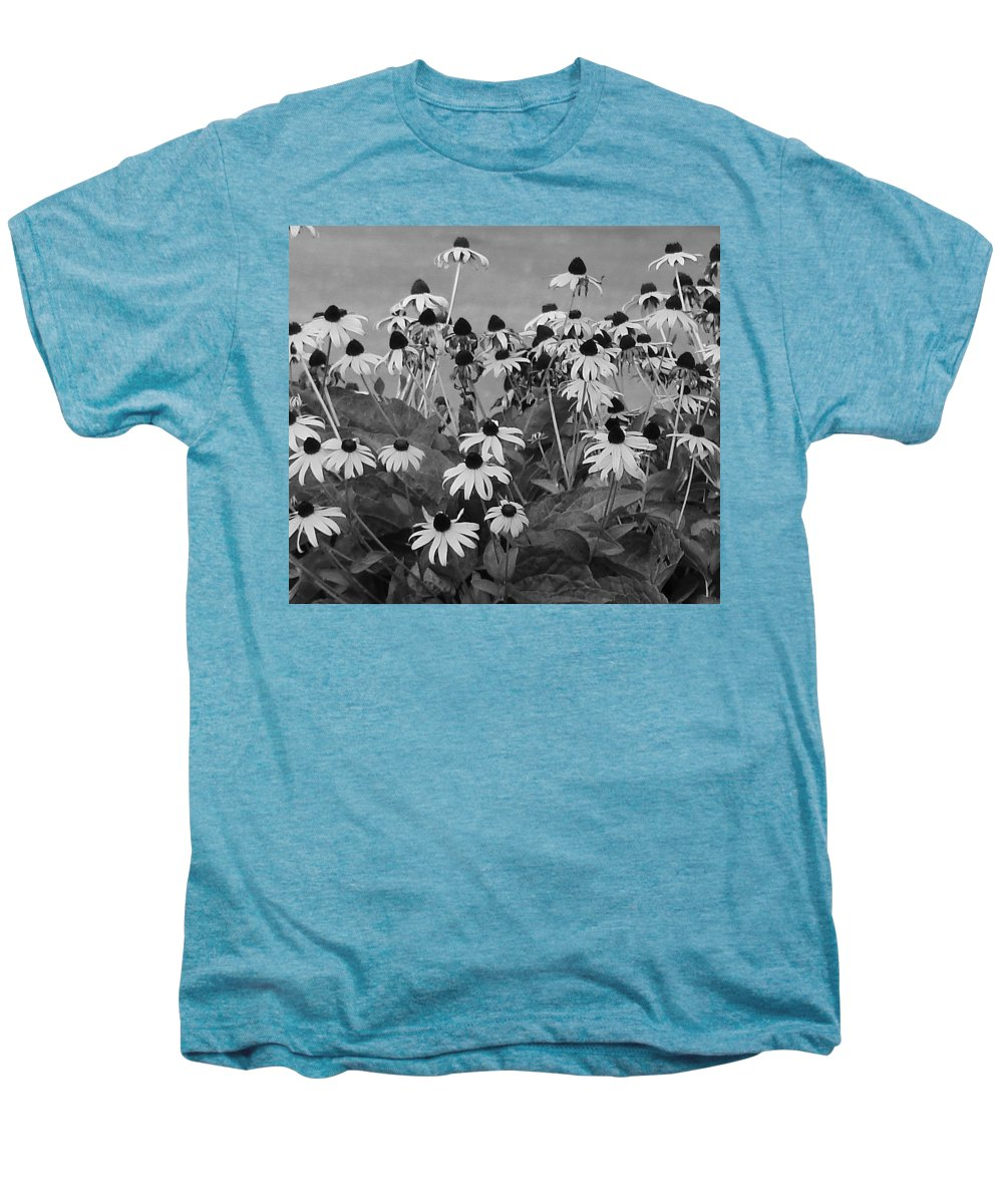 Men's Premium T-Shirt featuring the photograph Black And White Susans by Luciana Seymour