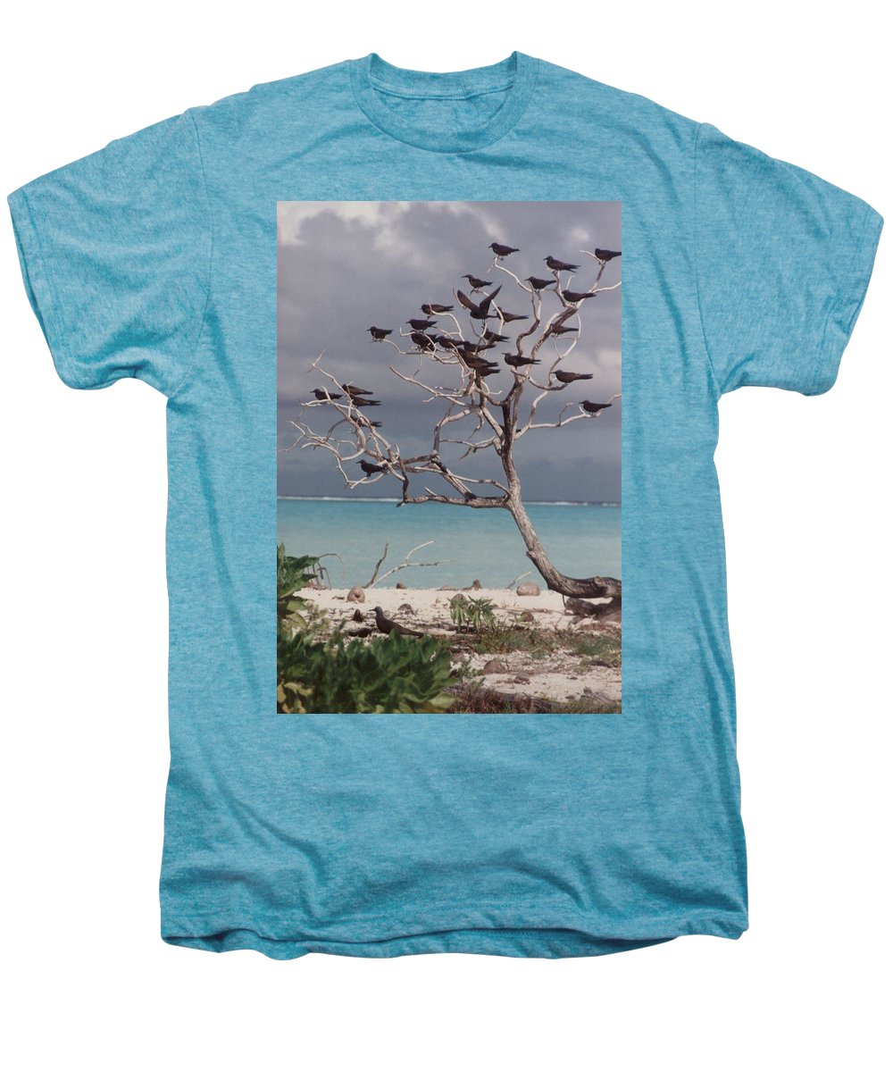 Charity Men's Premium T-Shirt featuring the photograph Black Birds by Mary-Lee Sanders