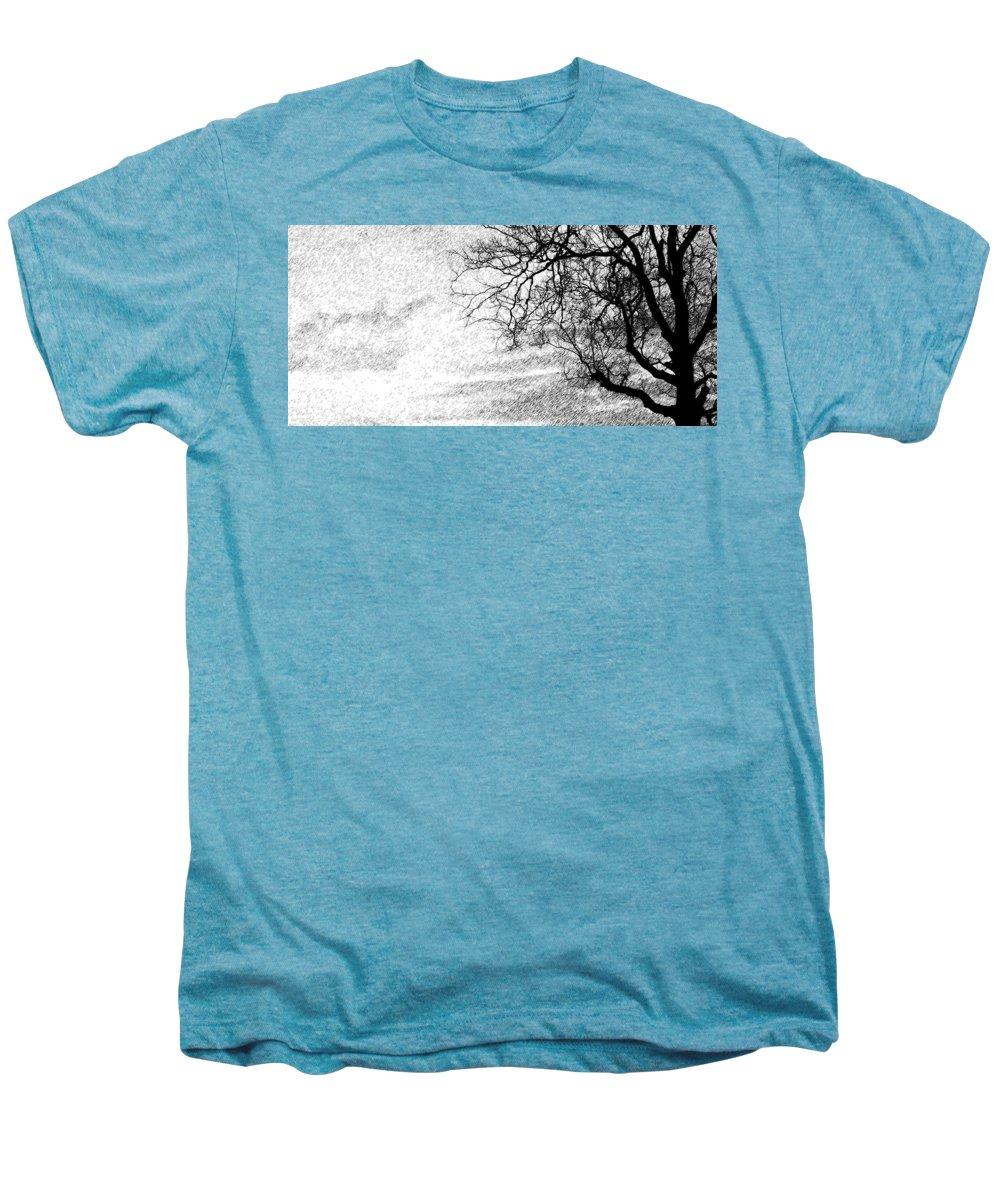 Sky Men's Premium T-Shirt featuring the photograph Black Rain by Ed Smith