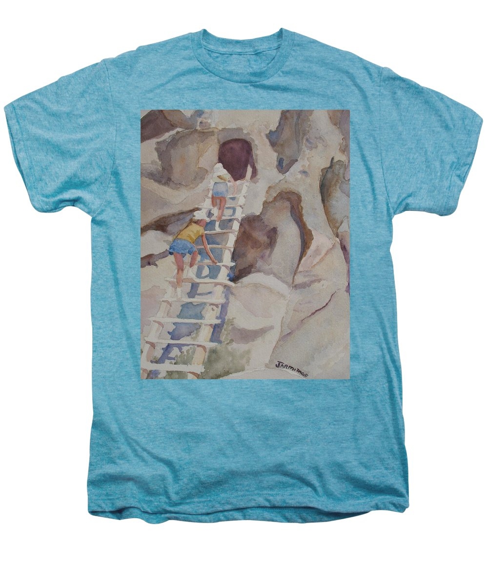Ladder Men's Premium T-Shirt featuring the sculpture Blond Indians by Jenny Armitage