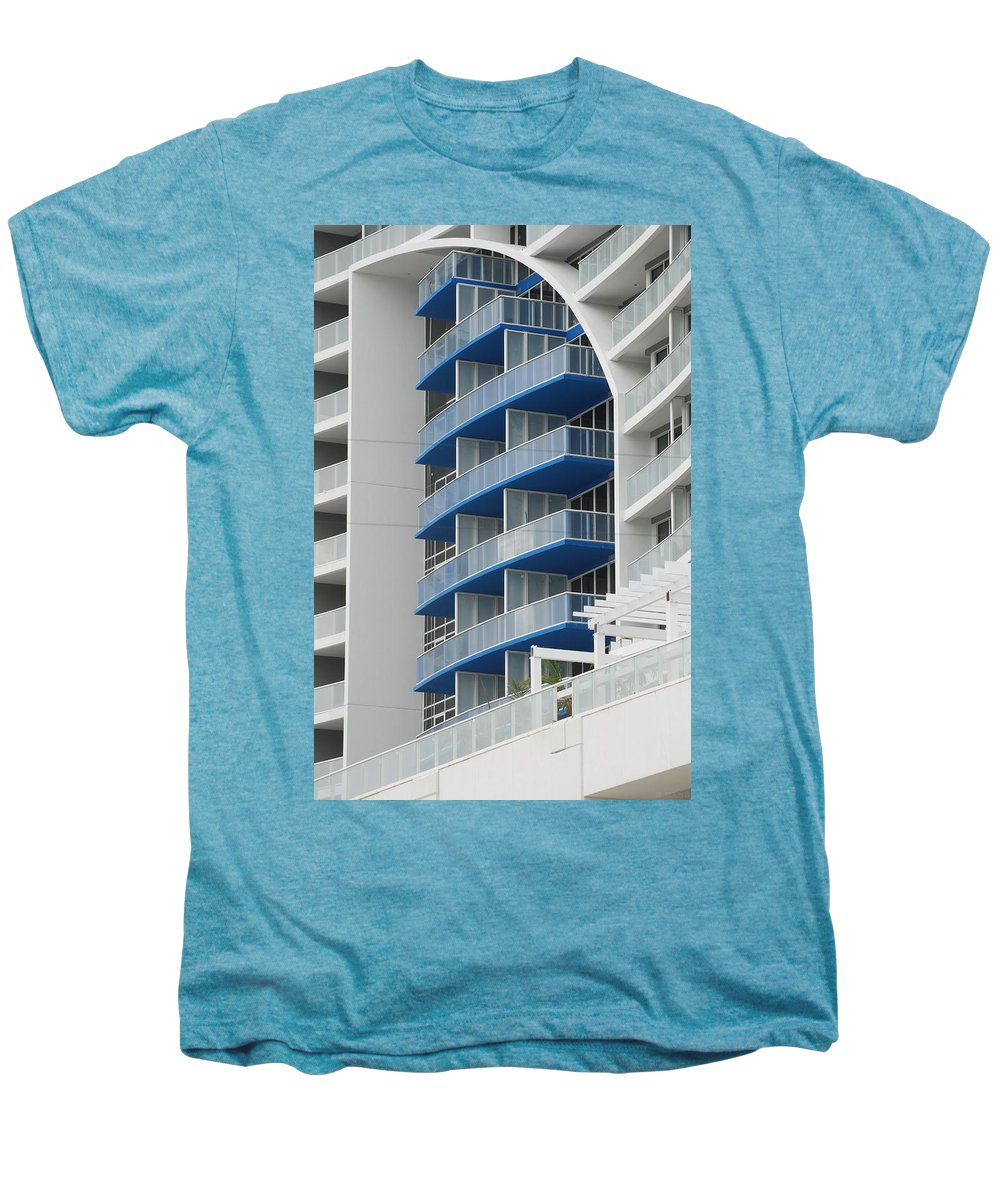 Architecture Men's Premium T-Shirt featuring the photograph Blue Bayu by Rob Hans