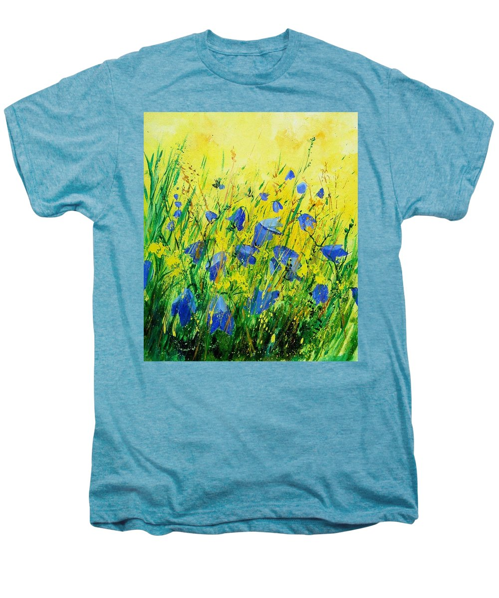 Poppies Men's Premium T-Shirt featuring the painting Blue Bells by Pol Ledent